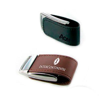 Energia Brindes - Pen drive Couro Brinde Promocional | Pen drive personalizado. Feito em couro com capacidade de 8GB. Impressão da logo em laser, o produto é embalado i...