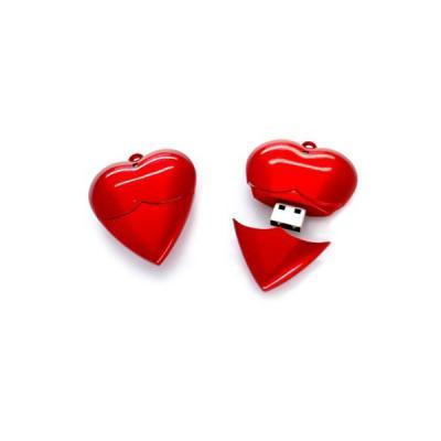 energia-brindes - Pen drive Promocional Coração