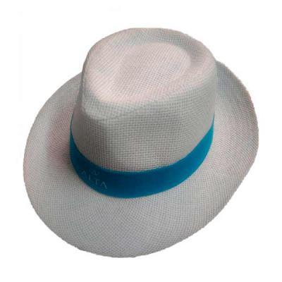 Rose Sacolas - Chapéu Tipo Panamá Branco Social