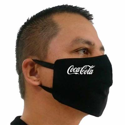 Rose Sacolas - Máscara em tricoline 10% algodão. Preta ou branca De amarrar, ou com elástico Personalizada com seu logo