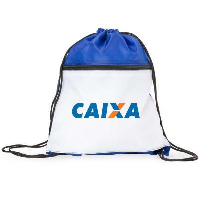 Make Brazil Soluções Promocionais - Sacochila fechamento superior e compartimento frontal com zíper