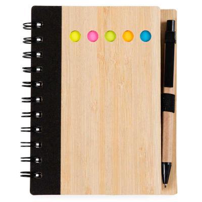 Make Brazil - Bloco de notas ecológico capa bambu com caneta