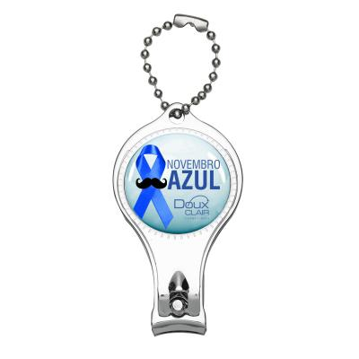 Make Brazil - Chaveiro metal cortador de unha de unha 3 em 1