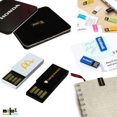 Make Brazil - Mini Pen drive Clips