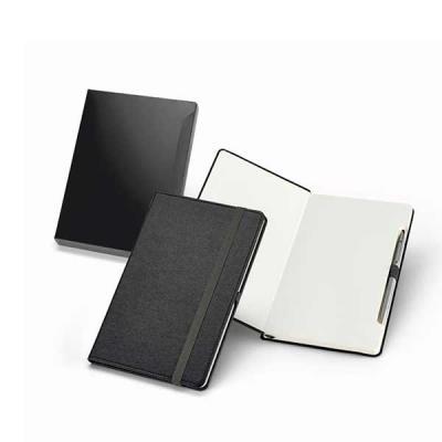 BTM Brindes - Caderno em couro sintético em capa dura