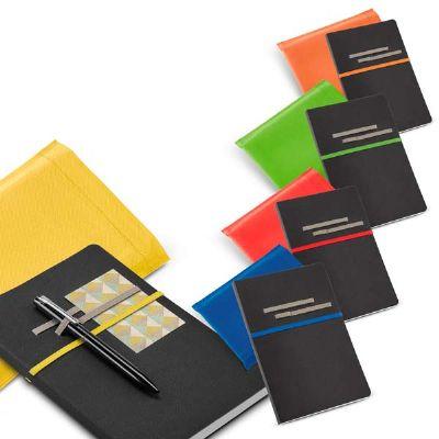 BTM Brindes - Caderno em couro sintético com folhas não pautadas