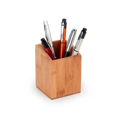 BTM Brindes - Porta canetas em bambu