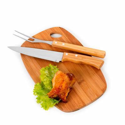 BTM Brindes - Kit churrasco 3 peças em bambu