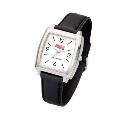 BTM Brindes - Relógio de pulso com pulseira em couro sintético ou metal