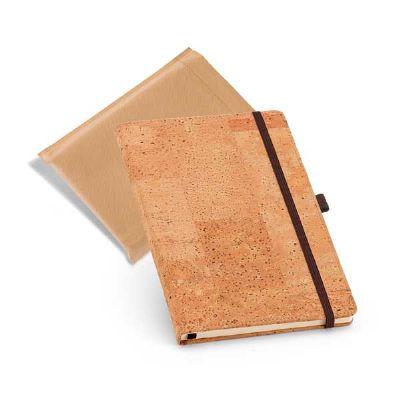 BTM Brindes - Caderno capa dura em cortiça