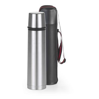 btm-brindes - Garrafa térmica em aço inox 1 litro com tampa