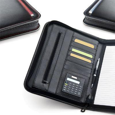 BTM Brindes - Pasta com bloco e calculadora.