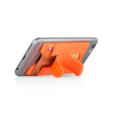 GriffiPett - Porta cartões para smartphone. Silicone. Com autocolante no verso e suporte para smartphone. 57 x 96 x 5 mm