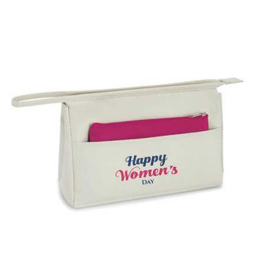 GriffiPett - Bolsa de cosméticos  23x15x 7cm + bolsa pequena 18x11cm. Material: Microfibra. Contém bolso bolso frontal e bolsa multiusos. Personalização: transfer...