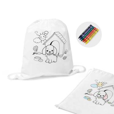 GriffiPett - Sacochila infantil muti-uso: auxilia no desenvolvimento da criatividade da criança e ainda é uma sacochila útil no dia-a-dia. O desenho já está está i...