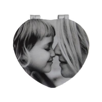 Santa Ana Design - Espelho no formato de coração.