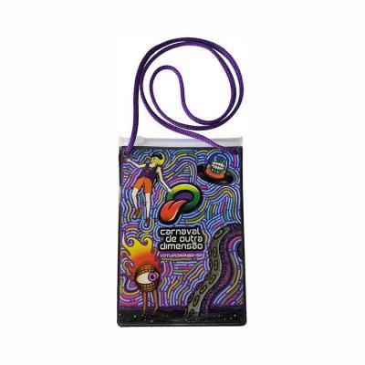 Megga Promo - Produzido em PVC cristal 020 mm transparente, zip lock, cursor plástico, cordão de nylon. Medidas, 12 cm de largura x 18 cm de altura.