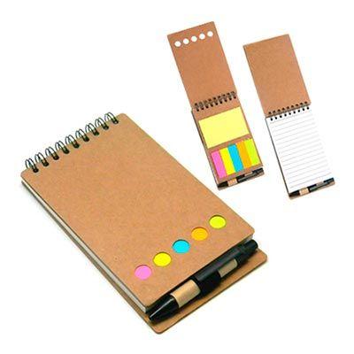 JBX Brindes - Bloco de Anotações com caneta e Post-it