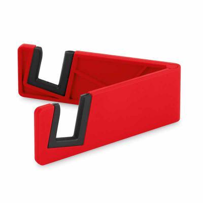 JBX Brindes - Suporte para celular. ABS e TPR. Fechado: 89 x 30 x 9 mm
