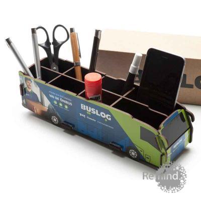 Remind Brindes Inteligentes - Porta Objetos Montável - Ônibus Dell Personalizado