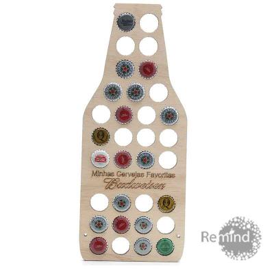 remind - Suporte de Madeira para Colecionar Tampinhas de Cervejas Personalizado - Bottle