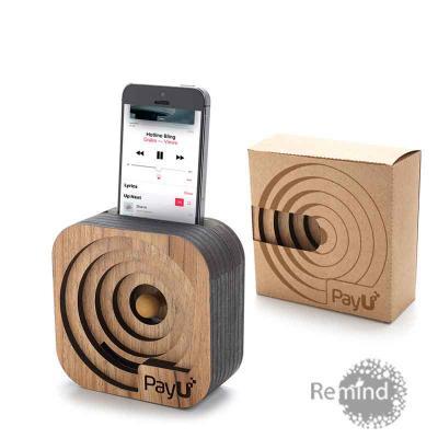 Remind Brindes Inteligentes - Caixa Acústica Amplificadora para Celular - Mod. Oxford