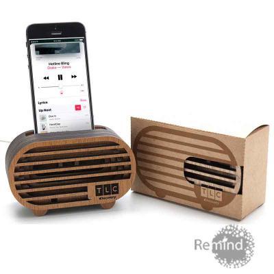 Remind Brindes Inteligentes - Caixa Acústica Amplificadora para Celular - Mod. Line