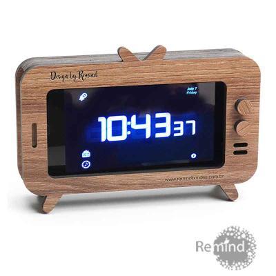 Remind Brindes Inteligentes - Caixa Acústica Amplificadora para Celular - Mod. TV