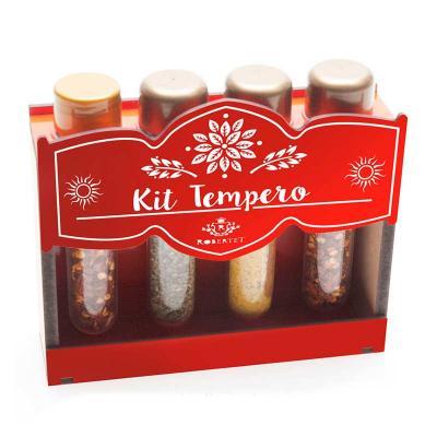 remind - Kit tempero com 4 ampolas na caixa de madeira