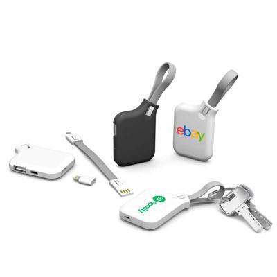 Promofy Brindes Corporativos Personalizados - Chaveiro carregador, 4 em 1, personalizado em Digital UV  - Chaveiro  - Cabo universal, compatível com Android + adaptador para iPhone - Carregador po...