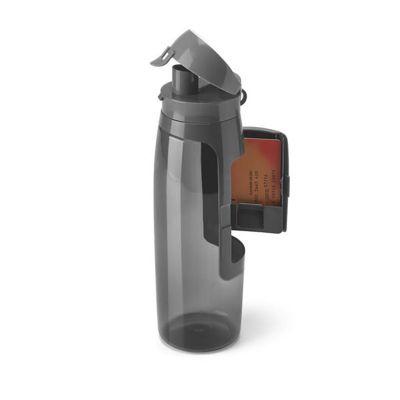 Promofy Brindes Corporativos Personalizados - Squeeze. PET. Com porta cartões, chaves e dinheiro. Capacidade: 800 ml. ø80 x 260 mm