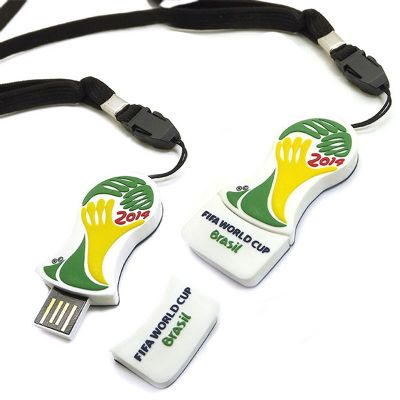 Promofy Brindes Corporativos Personalizados - Pen drive emborrachado produzido em formato especial. Capacidade de 4Gb, 8Gb ou 16Gb. Modelo 2D personalizado pode ser produzido em qualquer formato.