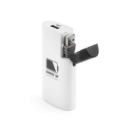 Brindes de Luxo - Bateria portátil em ABS. Bateria polímero de lítio.Carregador de Celular power bank com capacidade de 4.000 mAh. Tempo de vida = 500 ciclos. Entrada...
