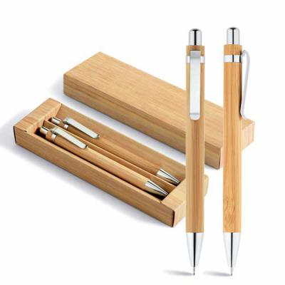 Brindes de Luxo - Kit Ecológico Caneta e Lapiseira Bambu