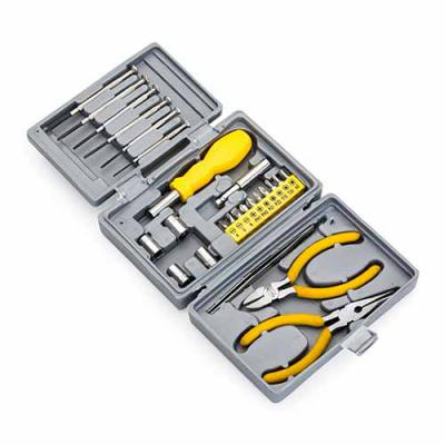 Brindes de Luxo - Kit ferramenta 25 peças em estojo plástico resistente texturizado. Possui 2 mini chaves de fenda e 4 mini chaves phillips, adaptador chave de boca, ch...