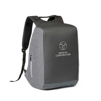 Brindes de Luxo - Mochila para notebook  personalizada com sistema antifurto: compartimento principal com zíper oculto e parte posterior com 2 bolsos ocultos com zíper,...