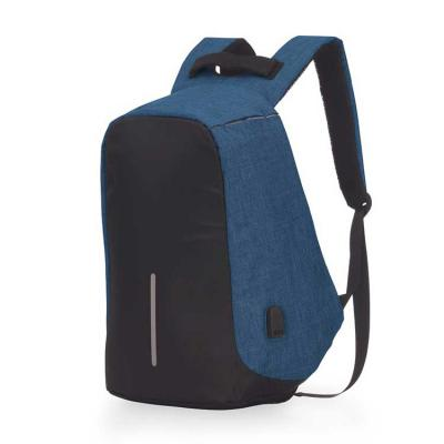Brindes de Luxo - Mochila para notebook, anti-furto, zíper protegido, conector USB externo na lateral, com cabo USB na parte interna para ligar power bank ou outro disp...