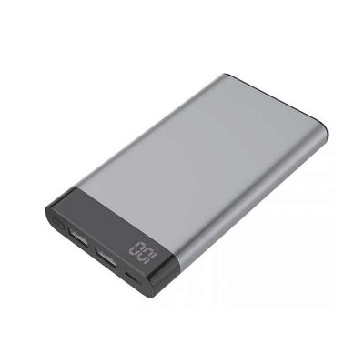 Brindes de Luxo - Power Bank Metal com Visor Digital 6000mAh