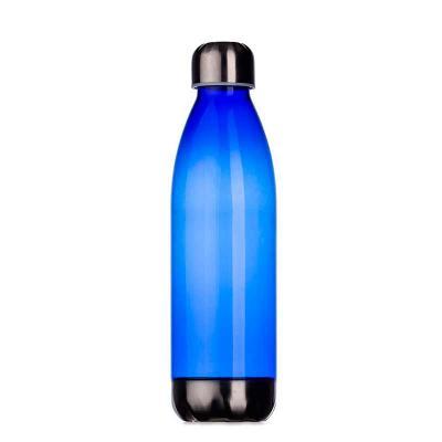 brindes-de-luxo - Squeeze plástico promocional 700ml formato garrafa. Corpo transparente colorido, possui tampa e base em alumínio. Impressão em silk. Tamanho: 25,5 cm...