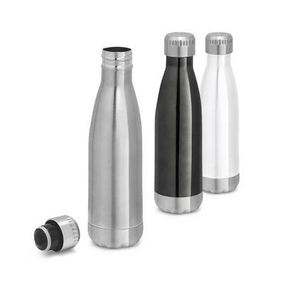 Brindes de Luxo - Garrafa térmica. Squeeze em aço inox com parede dupla. Capacidade até 510 ml. Food grade. Caixa branca  vendida opcionalmente. Tamanho: ø67 x 255 mm....