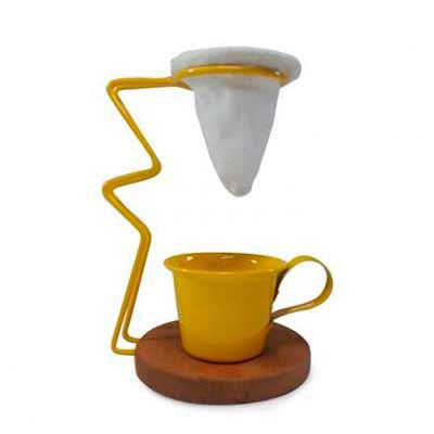 Brindes de Luxo - Mini Coador de Café Individual