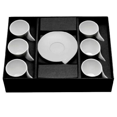 Brindes de Luxo - Conjunto de Xícaras para Café de Porcelana Personalizado