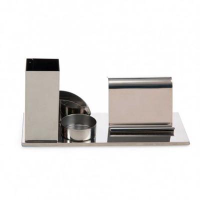 brindes-de-luxo - Kit Escritório Em Inox 4 em 1