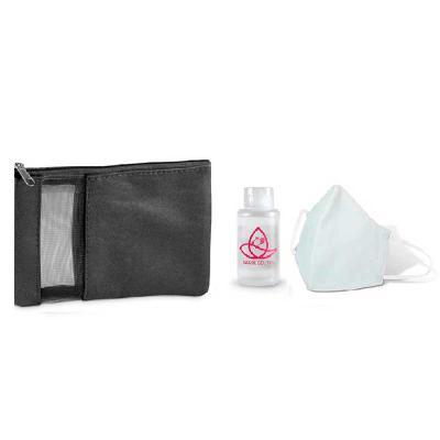 Brindes de Luxo - Kit Proteção - Máscara/Álcool Gel/Bolsa