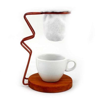 Brindes de Luxo - Mini Coador de Café com Xícara de Cerâmica