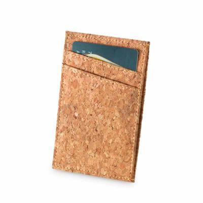 Brindes de Luxo - Porta cartões de cortiça. Com capacidade para 4 cartões e compartimento para notas.  Fornecido em caixa kraft. 68 x 106 mm | Caixa: 75 x 115 x 15 mm....