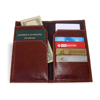 brindes-de-luxo - Porta Passaporte em couro