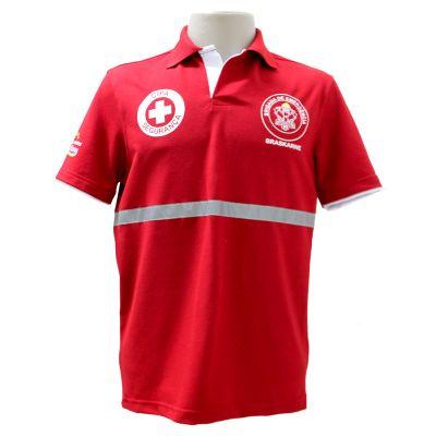 Equilíbrios Camisetas Promocionais - Camisa Polo ecológica com faixa Refletiva.