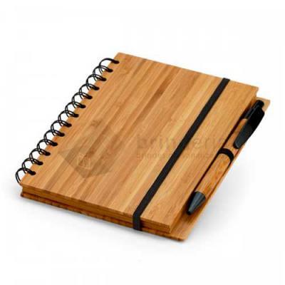 Brinderia Brindes - Caderno Bambu com Caneta