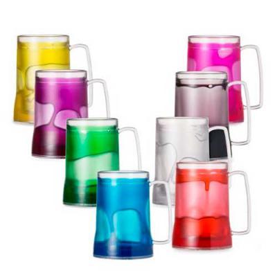 Brinderia Brindes - Caneca personalizada 400 ml para Chopp, em acrílico transparente, com gel nas cores: verde, vermelho, amarelo, preto, rosa e transparente.